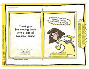 school lunch day free printable thank you