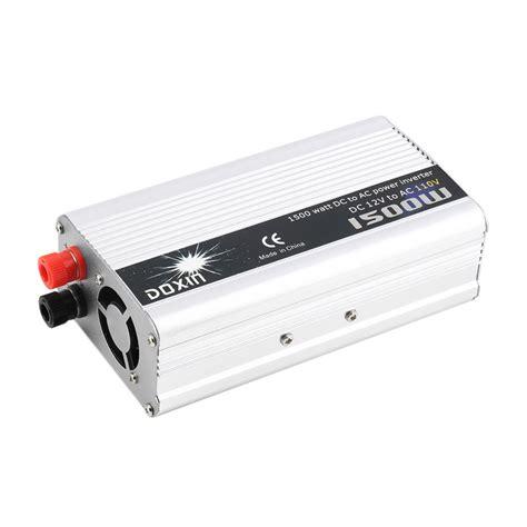Ac Portable Inverter dc 12v to ac 110v portable car power inverter charger converter 1500w watt hr ebay