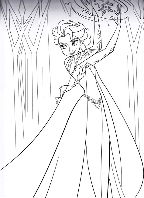 frozen coloring pages elsa walt disney characters images icons wallpapers and