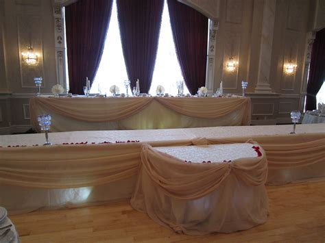 head table draping ivory head table draping set the mood decor