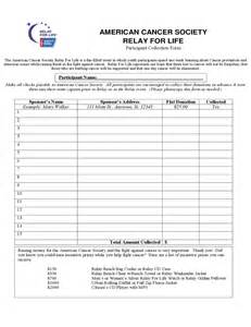 relay for walking schedule template relay for donation form america free