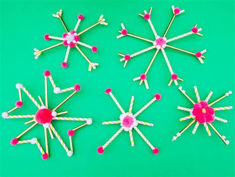 snowflake craft 10 easy snowflake crafts hgtv