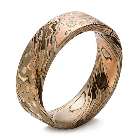 mens custom wedding rings custom s mokume wedding band 100673 bellevue seattle