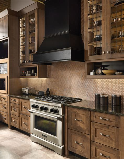 rustic alder wood kitchen cabinets is your style more rustic we absolutely love the new