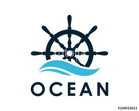 boat steering wheel and helm quot ship and boat helm steering wheel on the wave water ocean