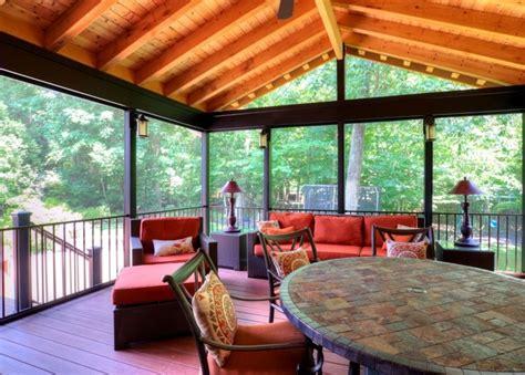 home designer pro porch centreville screen porch with black trim cedar ceiling