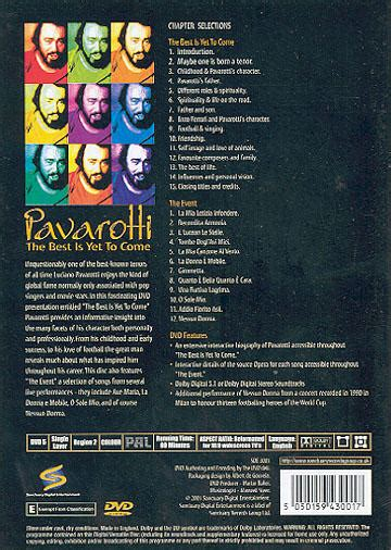 luciano pavarotti the best luciano pavarotti the best is yet to come dvd region 2