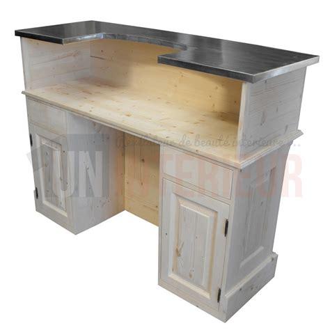 comptoir du meuble comptoir acceuil et bureau sur mesure en pin massif