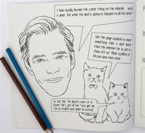 benedict cumberbatch you need to this colouring book
