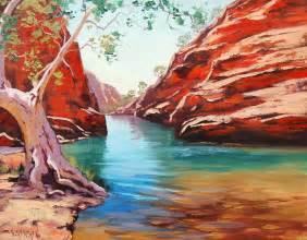 Landscape Artists Western Australia Outback Ghost Gum By Artsaus On Deviantart