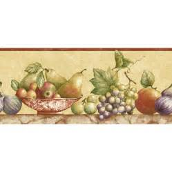 "Sunworthy 8"" Fruit Watercolor Prepasted Wallpaper Border at Lowes.com"