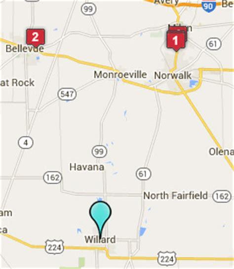 willard ohio map willard ohio hotels motels see all discounts
