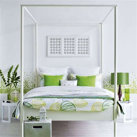 green and white bedroom green and white bedroom white bedlinen green cushions