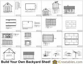 12x20 traditional backyard shed plans