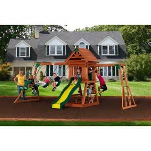 cedar wooden swing sets wooden play sets