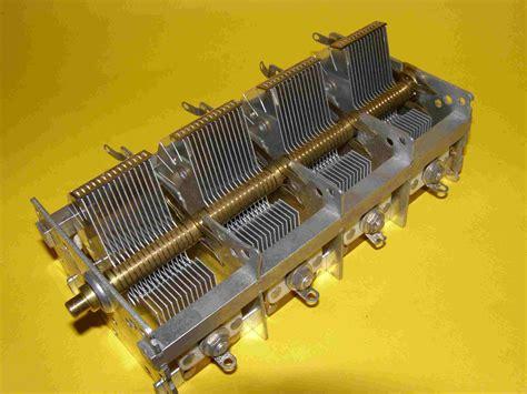 air variable capacitor codes air variable load capacitor 4 gangs 550 pf each total 2200 pf new