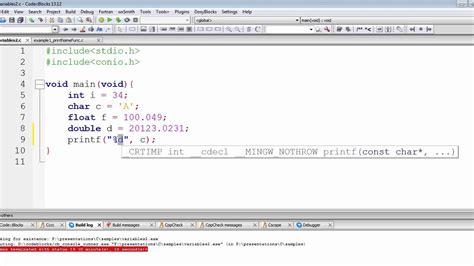 float format c programming tutorial character float format