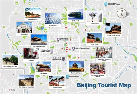 beijing map beijing map map of beijing s tourist attractions and subway