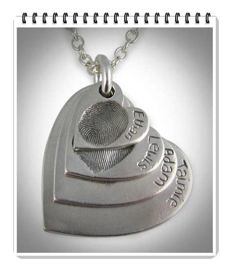 make fingerprint jewelry best 25 sterling silver hearts ideas on