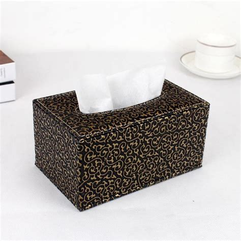 Size 19x12x9 2017 wooden struction leather higher rectangle tissue box