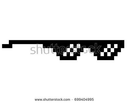 Black Glasses Meme - pixel glasses vector meme glasses stock vector 666441637
