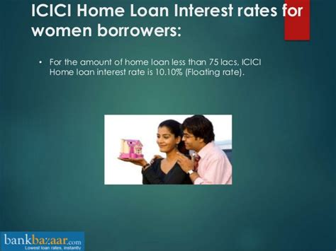 housing loan icici icici bank home loan interest rates