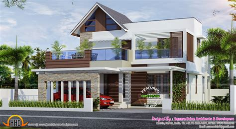 4 bedroom attached modern home design kerala home design