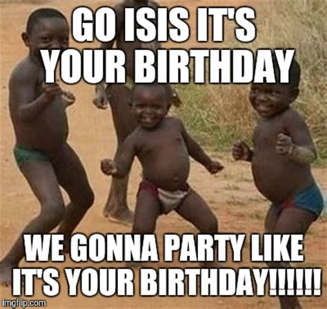 Black Birthday Meme - african kids dancing imgflip