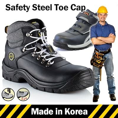 Boots Safety Shoes Kode Sc09 qoo10 made in korea mens safety shoes safety boots
