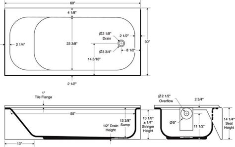bathtub depth bathtubs idea interesting standard bathtub dimensions