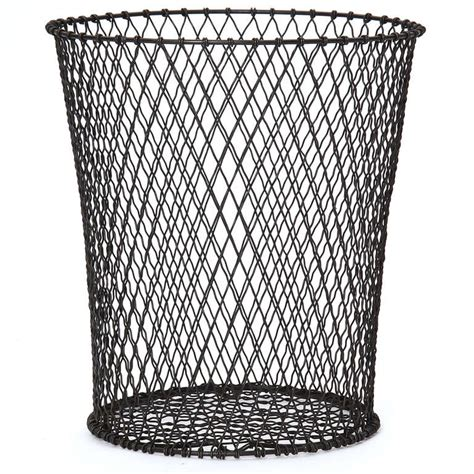 waste paper baslet woven wire waste paper basket at 1stdibs
