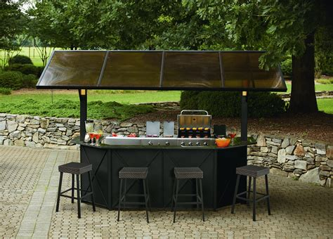 Bar Style Patio Furniture Ty Pennington Style Sunset Deluxe Lighted Hardtop Bar With 4 Stools Shop Your