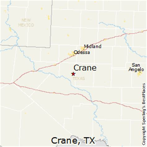 crane texas map best places to live in crane texas
