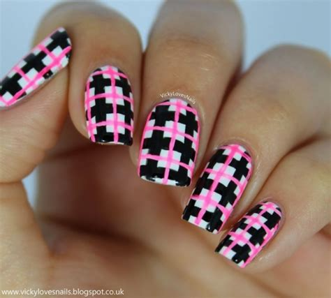 argyle pattern nail art fun and fancy 39 awesome plaid nail art designs for your