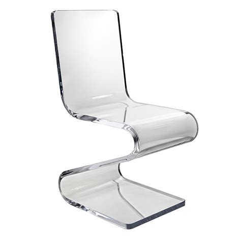 clear acrylic desk chair clear chair tasha clear finished plastic accent chair