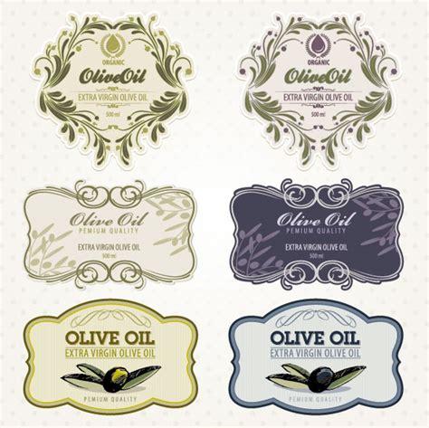 Aufkleber Von Flaschen Lösen oliven 246 l etiketten 02 vektor material free download