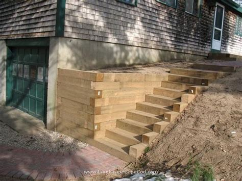 Landscape Timbers Retaining Wall Retaining Walls Landscape Timbers And Stairs On