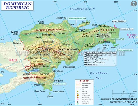 printable map dominican republic dominican republic map