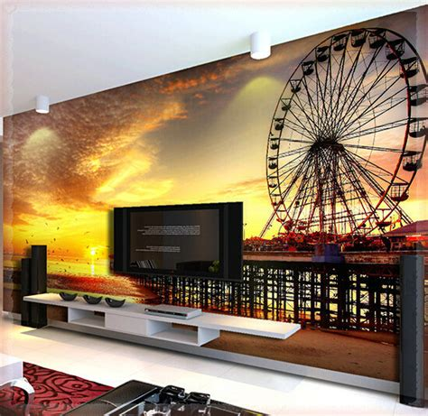 realistic wall murals custom any size 3d wall mural wallpapers realistic ferris wheel large mural wall paper hd