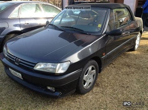 1994 peugeot 306 cabrio car photo and specs