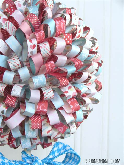 How To Make Ribbon Using Paper - s paper ribbon topiary