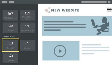 section element weebly section element supported templates section themes