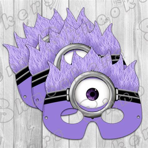 printable mask minion despicable me 2 inspired printable purple minion party
