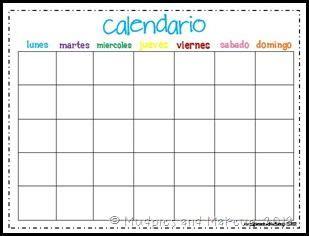 templates blogger español blank calendar in spanish calendar