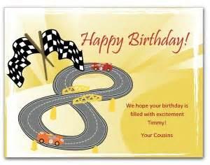 nascar happy birthday card printable racecar birthday card template