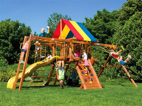 rainbow swing sets swing sets rainbow swing set superstores of colorado