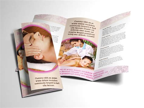 fancy brochure templates fancy spa and brochure