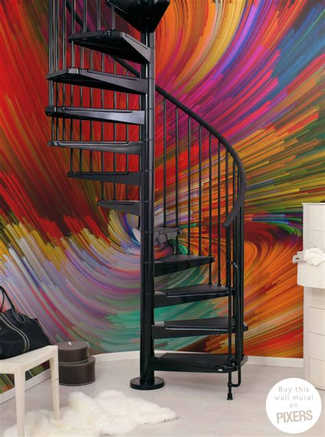 colorful wall murals colorful swirl wall mural inspirations pixersize