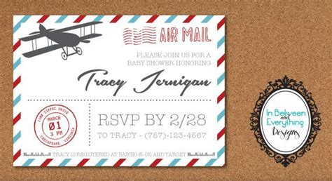 Baby Shower Invitations Vintage Airplane Baby Shower Invitations Decorations Aviation Themed Airplane Baby Shower Invitation Templates