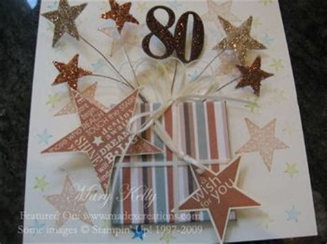 Handmade 80th Birthday Card Ideas - sue madex stin up demonstrator australia april 2009